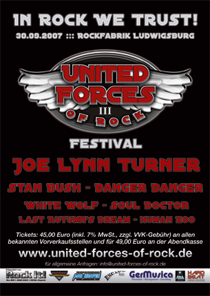 United Forces Of Rock - Flyer & Anzeige