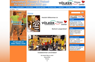 Völker Fitness Center Website